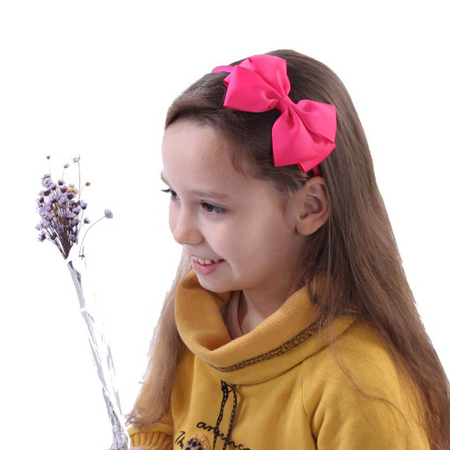 11pcs/Lot High Quality Solid Hairbands Princess Hair Accessories Big Bows Plastic Hairband Girl Headband Hair Accessories 1