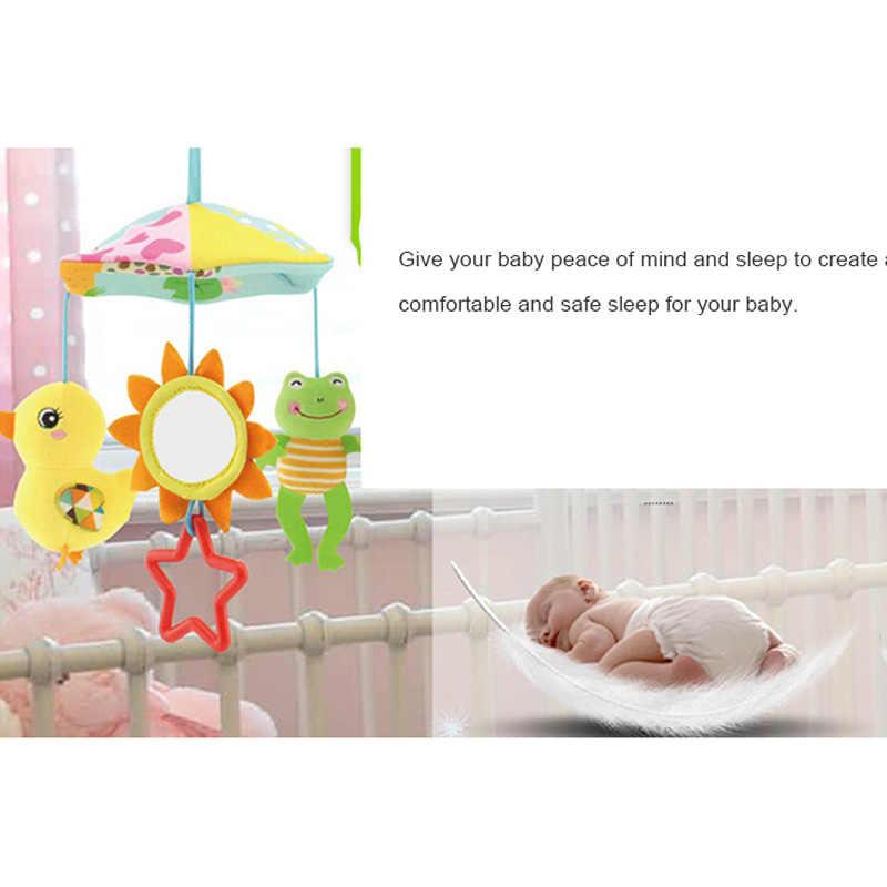 รถเข็นเด็กทารก Crib Pram เตียงแขวนของเล่นเด็กดนตรี Rattles โทรศัพท์มือถือหมุน Plush Appease Soothing Wind chimes ของเล่น