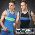 De Los Hombres de moda de Secado rápido Sin Mangas Verano Tanques Sport Gym Camiseta Ocasional caliente-venta tejida Tops Gimnasio chaleco