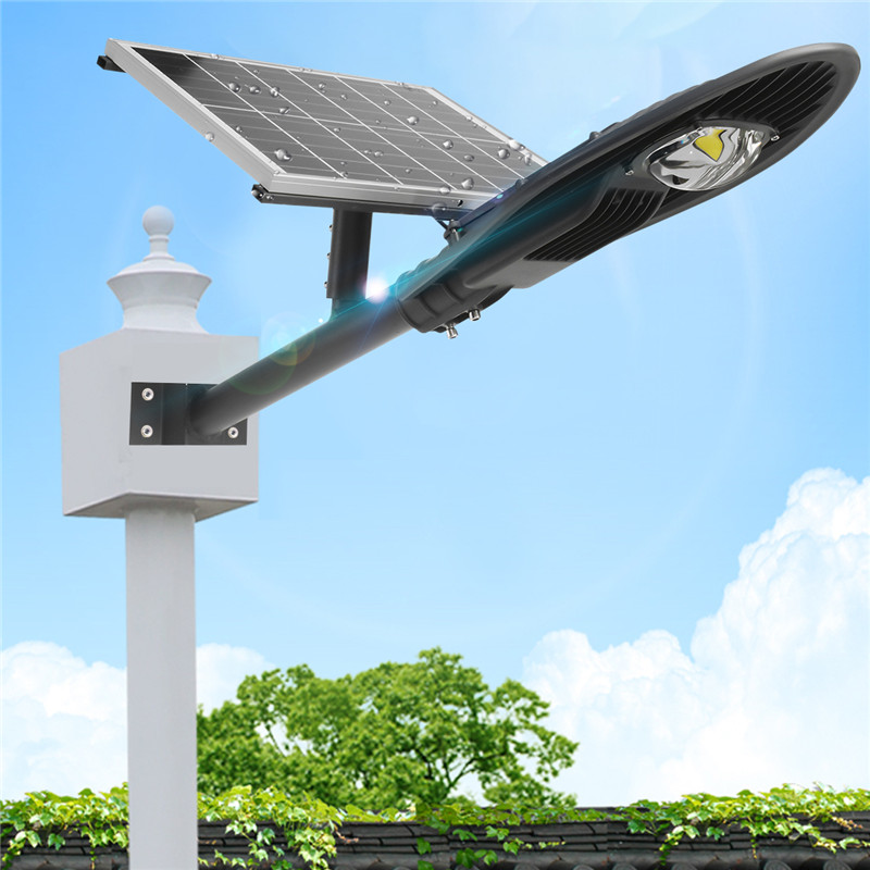 Smuxi 20/30W Solar Street Light LED Solar Radar Sensor Road Lamp With Waterproof Lamp Arm AC110-220V LED Industrial Light ...