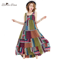 BelineRosa Women S Bohemian Dresses 2017 Beach Style Vintage Sleeveless Summer Dresses For Women TYW00347