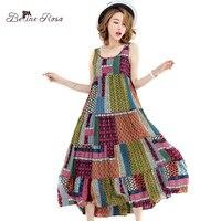 BelineRosa Women S Bohemian Dresses 2017 Beach Style Vintage Sleeveless Summer Dresses For Women TYW00347