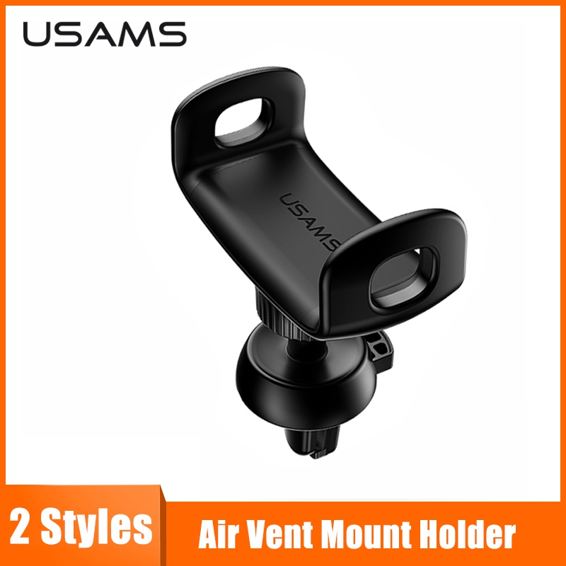 USAMS Mini Air Vent Mount Holder For IPhone Xs XR X Car Phone Holder 360 Rotation Car Holder For Phone In Car Phone Holder Stand