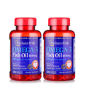 U.S.A Omega-3 Fish Oil 1000 mg (300 mg Active Omega-3)-200 Softgels (100Softgels* 2 Bottles) Free shipping