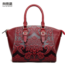 NAISIBAO 2017 luxury women messenger bags 100% genuine leather handbag vintage tote shoulder bag designer handbags crossbody