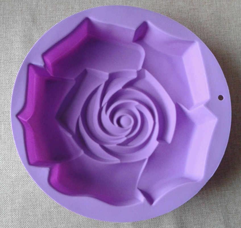 """גודל גדול 29 * 5.8 ס""""מ XG006 עלה צורת פרח סיליקון עובש עוגת מחבת עוגת סיליקון כלי מטבח עובש diy"""