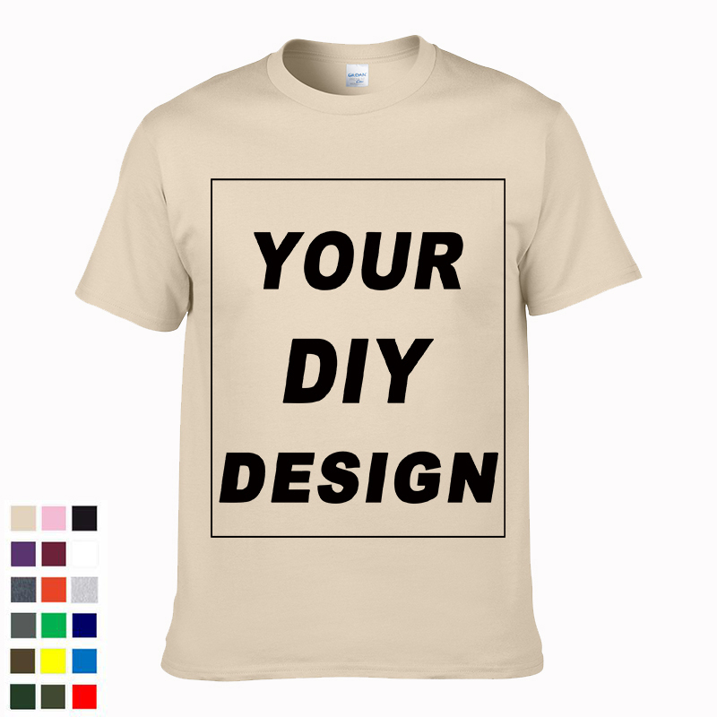 2019 Customized Men's T Shirt Print Your Own Design DIY High Quality Cotton T-Shirt For Men Plus Size no glue print XS-3XL #04(China)