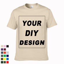 0ab7ebe63 2019 Customized Men's T Shirt Print Your Own Design DIY High Quality Cotton  T-Shirt