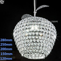 K9 Crystal Chandelier Apple Lustres De Cristal Restaurant LED Lights Modern Pendant Lamp