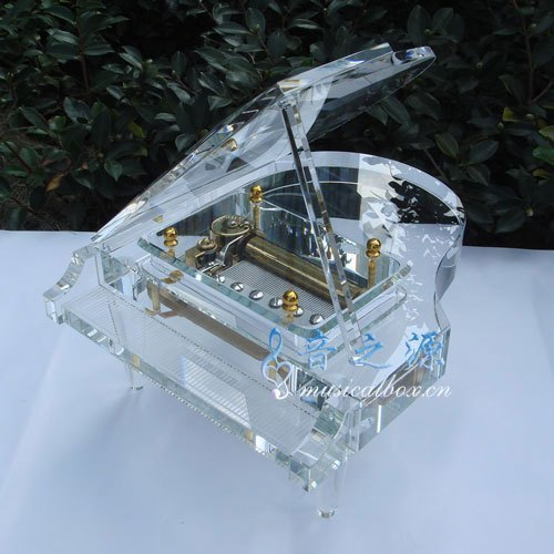 Beautiful Crystal 50 Notes Piano Music Box Many Melody To Choose Christmas Gifts, Gift For Lovers