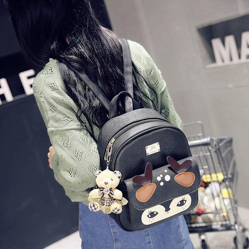 ZXG lovely Cartoon Girl s Backpack Cute PU Leather Backpacks Bagpack Small Women Bag
