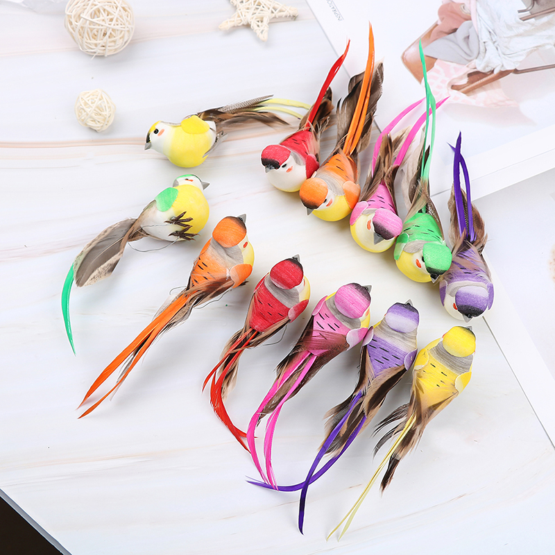 Artificial Foam Feather Simulation Bird DIY Party Crafts Ornament Props Home Garden Wedding Decoration