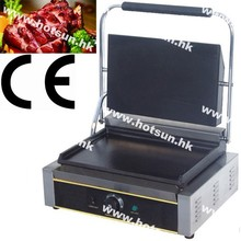 Commercial Heavy Duty Non-stick 220v Electric Flat Iron Plates Panini Sandwich Contact Grill Griddle Toaster Machine
