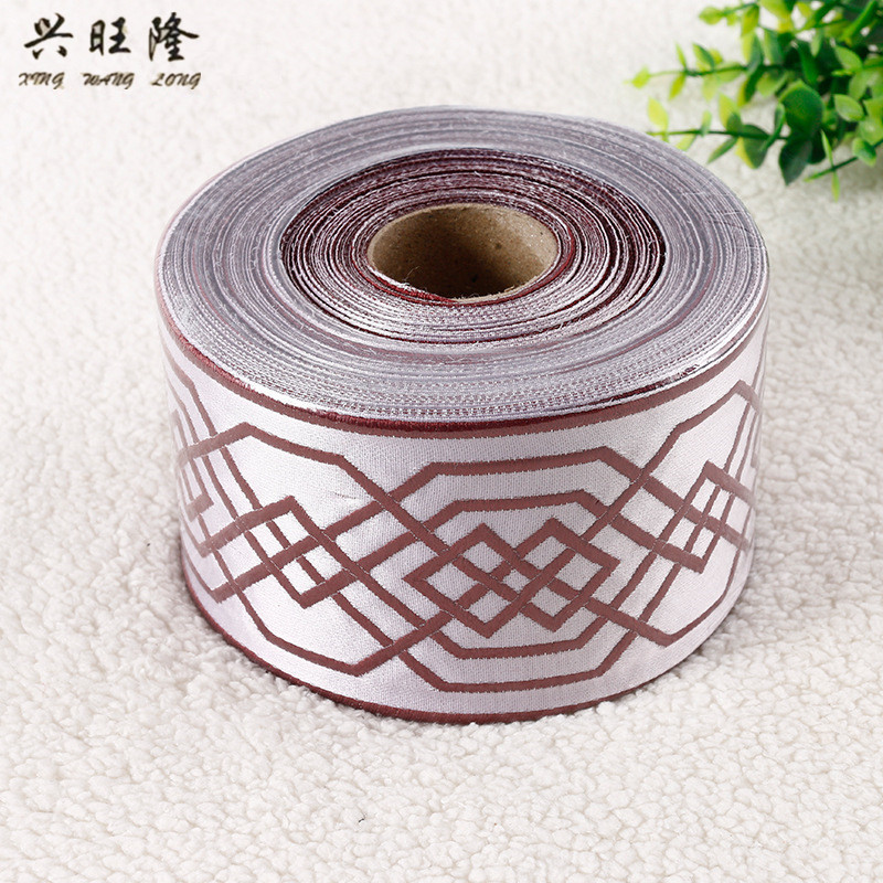 XWL 25M Lot 9CM Wide Jacquard Curtain Lace Trims Belt Laciness Curtain Accessories DIY Sewing Sofa