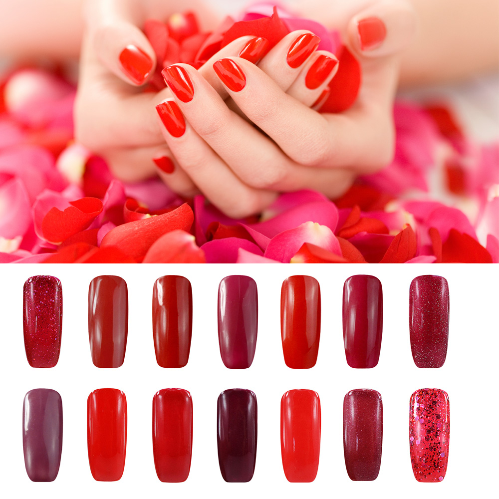 Online Shop Smiling Angel Red Gel Nail Polish for French Manicure ...