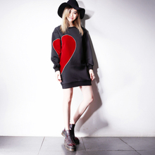 2016 New Time-limited Streetwear Sailor Moon U84 Love Of A! Velvet Hit Color Mosaic Bestie Space Cotton Loose Dress.