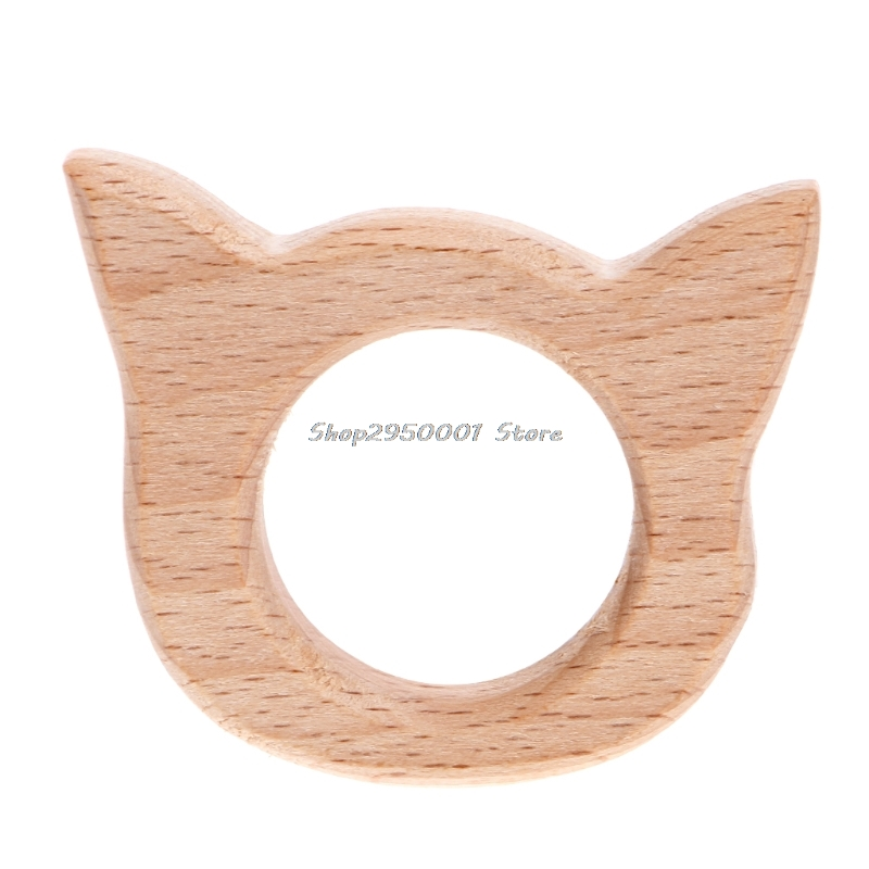 2017  Baby Natural Wood Pendant DIY Jewelry Making Findings Handmade  Teether Shower  Gift     AUG29_20