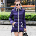 2015 new arrival winter coat women thick hooded down jacket women's long jackets ladies zipper hood Irregular down parkas Q507
