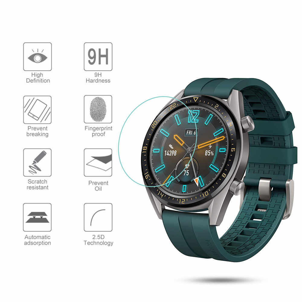 f3a70654f Tempered Glass Film For Huawei Watch GT Active Elegant Tempered Glass  Screen Protective Film Guard Anti