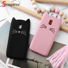 Soaptree Case For Samsung Galaxy J7 2017 Cases Cute Cat Ear Soft Silicone Protective Cover for J730 Pro EU Version