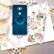 Fashion Cute Cartoon Animals Phone Case For LG V30 Painted Phone Case For LG V30 Soft Silicone Full Back Cover(China)