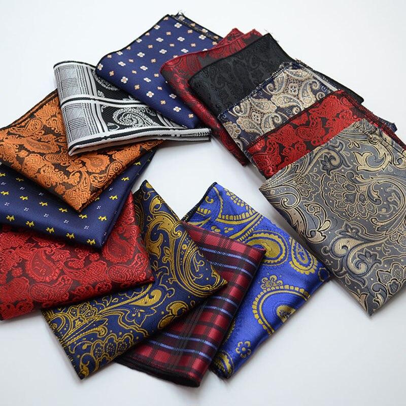 Hlinayi Men's Pocket Towel British Retro Pattern Square Towel Wedding Business Suit Shirt Pocket Towel