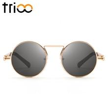 TRIOO Gothic Round Women Sunglasses Retro Round Eyewear Sun Glasses Vintage Circle Shades Female 2018 Cool Ladies Oculos