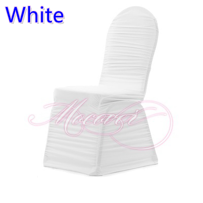 ruched spandex chair cover childrens wooden rocking aliexpress.com : buy white colour covers for wedding decoration universal ...