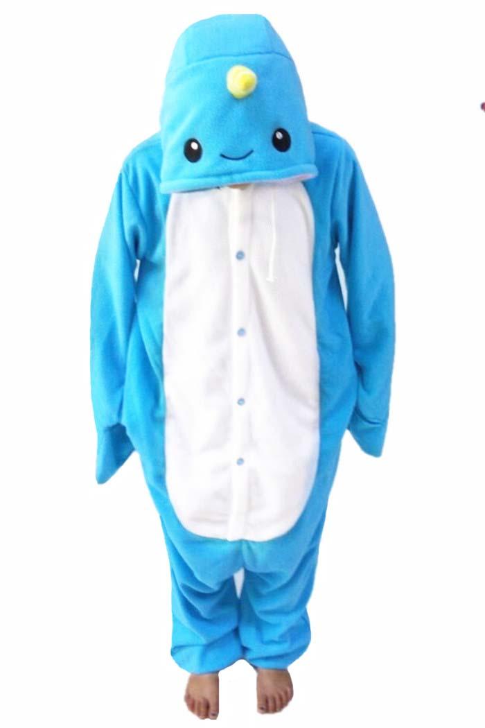 Новый животных пижамы Для женщин костюмы Нарвал Комбинезоны Для мужчин пижамы костюмы мультфильм Sleepsuit пижамы