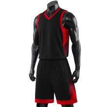 Männer Basketball Set Uniformen kits 2019 Große Größe college Basketball Trikots Sport Anzüge DIY Customized Training anzüge Tragen Sommer(China)