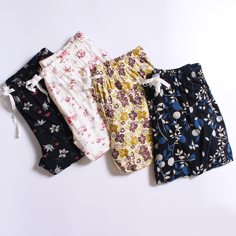 Lounge Pants Women Spring Autumn Modal Print Long Pant Pyjama Bottoms Cotton Women Sleeping Trousers 4 Styles M-XXL Q280