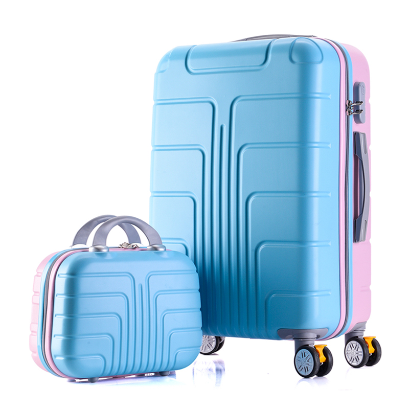 Universal wheel suitcase with brake,Strong ABS shell Luggage Case set,Aluminum alloy rod Carry-Ons,Travel bag with password Lock travel aluminum blue dji mavic pro storage bag case box suitcase for drone battery remote controller accessories