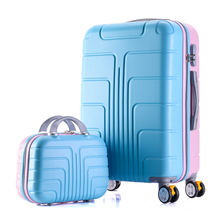 Universal wheel suitcase with brake,Strong ABS shell Luggage Case set,Aluminum alloy rod Carry-Ons,Travel bag with password Lock