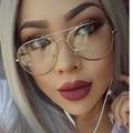 Claro Gafas de Miopía Gafas de Marco Claros Mujeres Hombres gafas de Montura de Lente Transparente Transparente Óptico Aviator Gafas Luneta Transparente