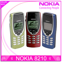 Original Nokia 8210 Unlocked Mobile Phone 2G Dualband GSM 900 / 1800 GPRS Classic Cheap Cell phone Refurbished Free Shipping