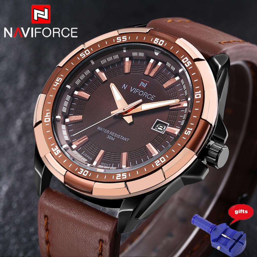 2016 Men Watch Quartz Luxury Naviforce Watches Men Classic Date Waterproof Male Wristwatch Relogio Masculino Free