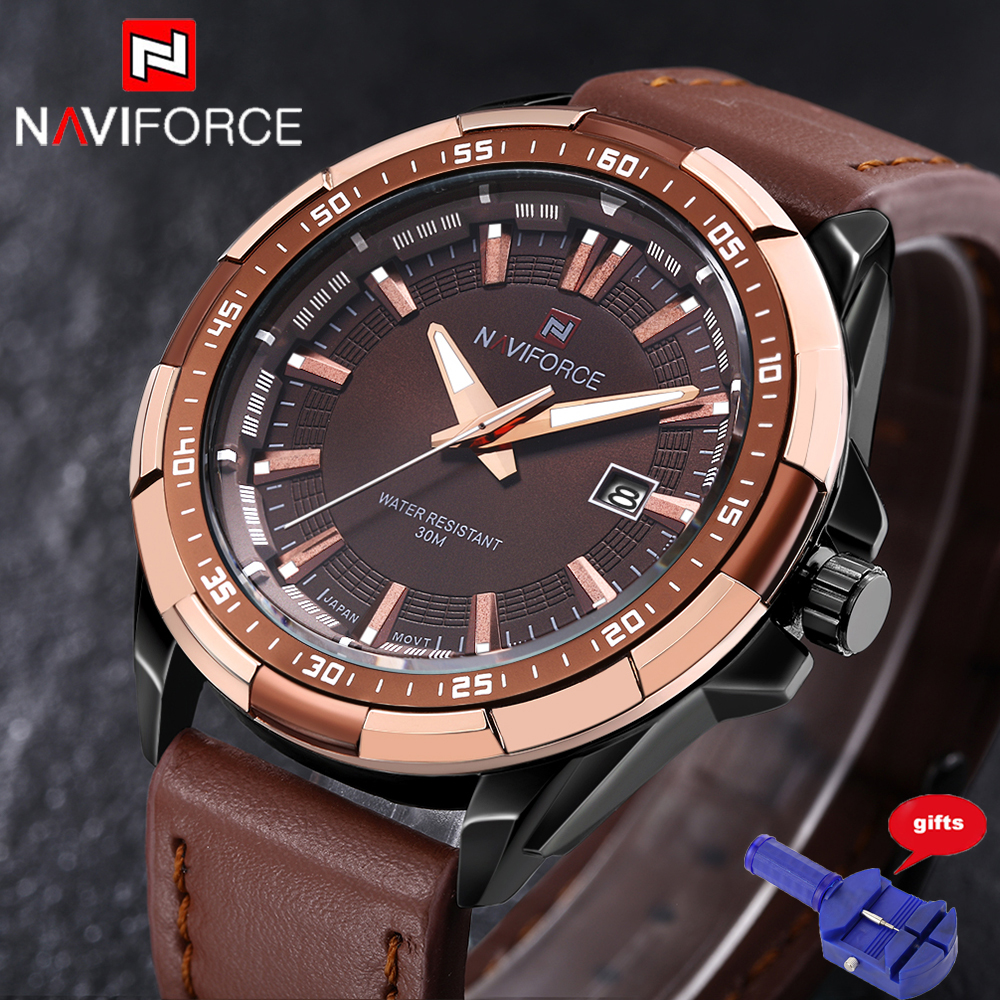 2016 Men Watch Quartz Luxury Naviforce Watches Men Classic Date Waterproof Male Wristwatch Relogio Masculino Free for Regulator