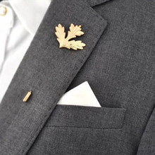 Unisex Corsage Boutonniere Retro Male Maple Brooch Collar Pin Brand Accessories Trendy Suits Shirts Lapel Man Brooches(China)