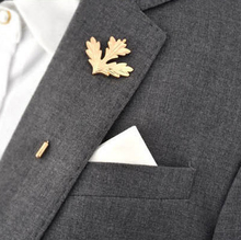 Unisex Corsage Boutonniere Retro Male Maple Brooch Collar Pin Brand Accessories Trendy Suits Shirts Lapel Man Brooches