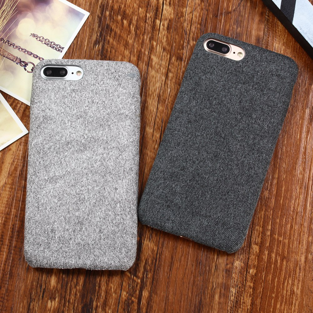 sports shoes db6b7 1b9c8 US $2.29 16% OFF|XBXCase Cloth Texture Phone Case for iPhone 6 6S 7 Plus  7Plus 8 Plus Ultra Thin Vintage Soft Cover Case for iPhone X Xs MAX XR S-in  ...