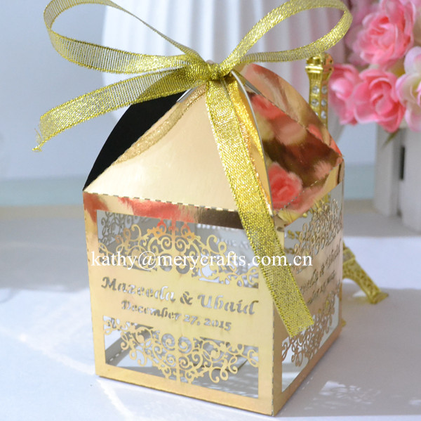 cut gold wedding box indian wedding favors and gifts wedding favor box ...