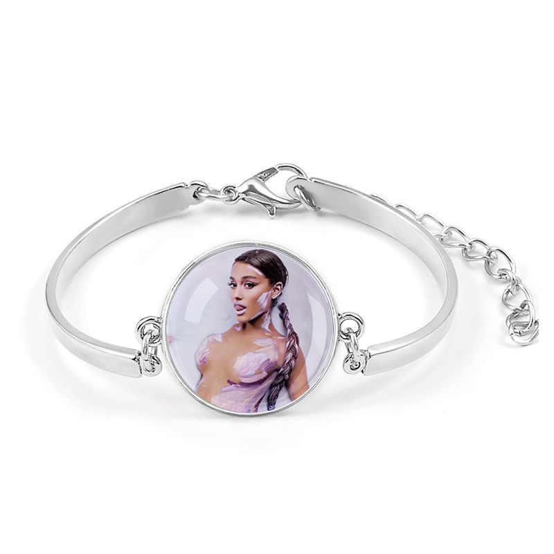 Ariana Grande Không Nước Mắt Trái Khóc Vòng Tay Bài HátThiên Chúa Là một Người Phụ Nữ Album Thoát Biểu Tượng Huy Hiệu Braslet Cho Bé Gái Đeo Cổ Tay