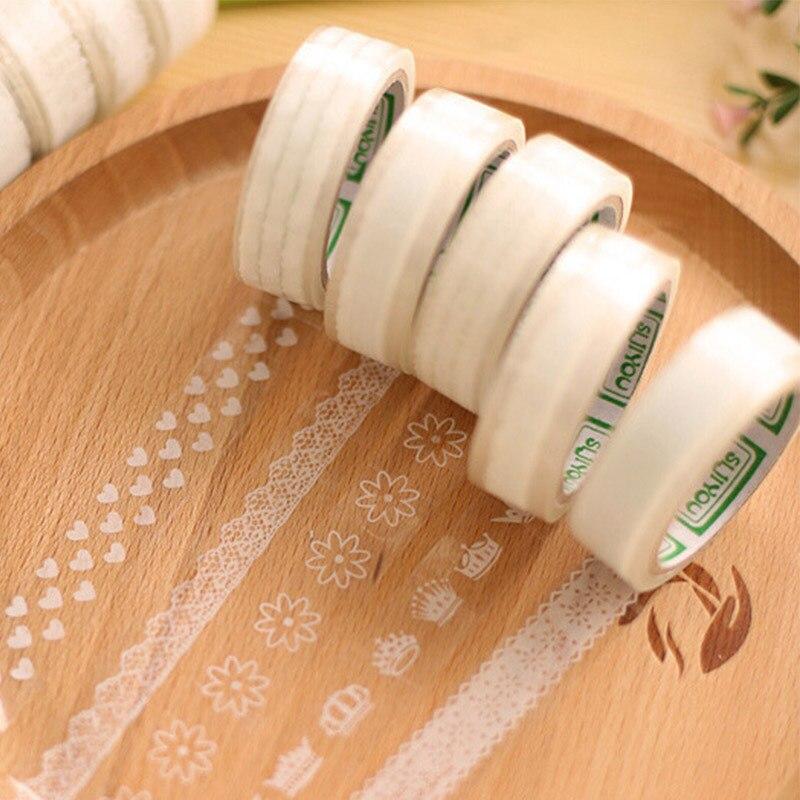 1 pc lot white lace washi adhesive masking tape diy album for Decoration tape