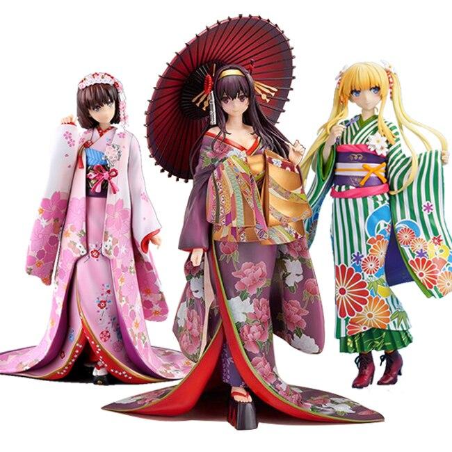 Saenai Heroine No Sodatekata Kasumigaoka Utaha/Katou Megumi Kimono Action Figure Toys Collection Christmas Toy
