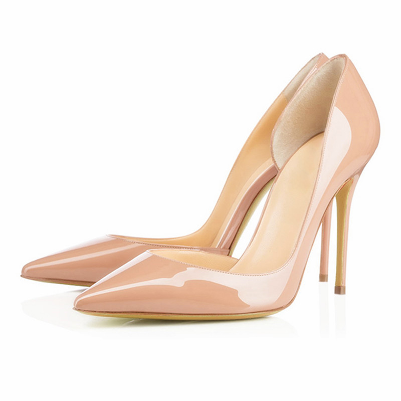 Brand Shoes Woman High Heels Wedding Shoes Nude Women Pumps Sexy Pointed Toe High Heels Summer Ladies Party Shoes Heels FS-0087 sexy pointed toe high heels women pumps shoes new spring brand design ladies wedding shoes summer dress pumps size 35 42 302 1pa