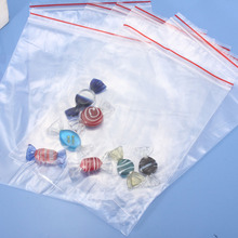 100pcs 0.08mm Thicker OPP Zip Zipped Lock Self Adhesive Clear Bags Ziplock Transparent Necklace Bracelet Reclosable Packaging