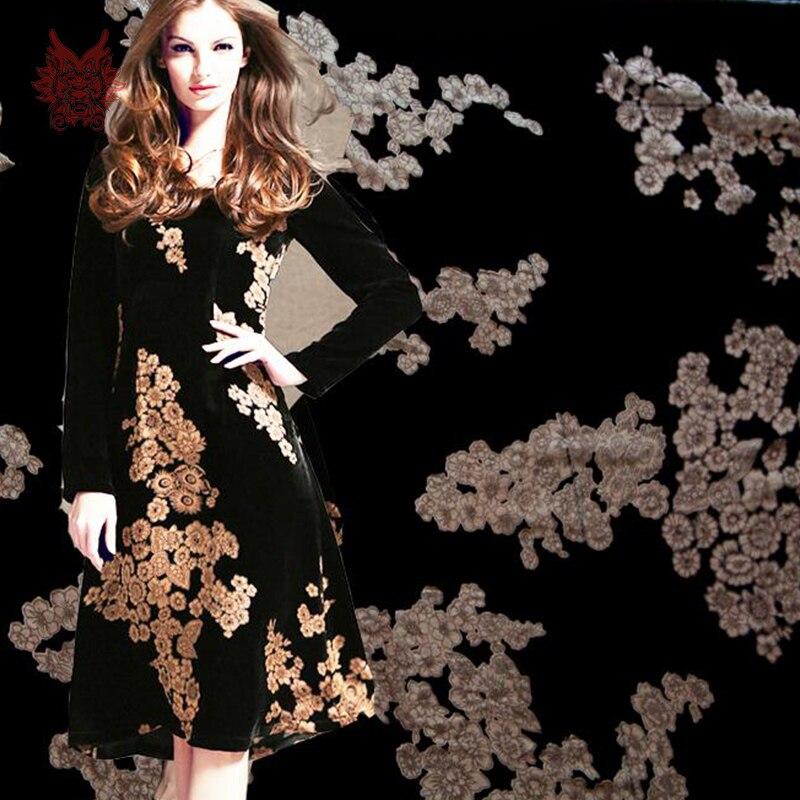 Black dress velvet material