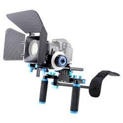 Professional DSLR Rig Shoulder Video Camera Stabilizer Matte Box + Follow Focus for Canon Nikon Sony dslr Camcorder