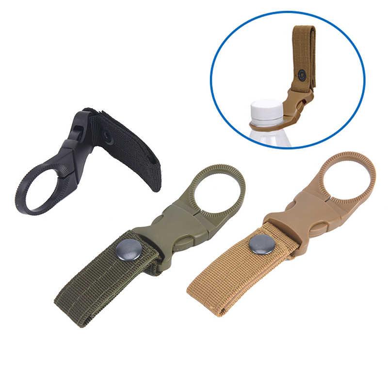 Boucle de sangle en Nylon militaire en plein air crochet porte-bouteille d'eau Clip EDC escalade mousqueton ceinture sac à dos cintre Camp couleur aléatoire