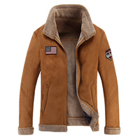 High Quality Men Sheep Suede Motorcycle Jacket Brown Full Lined Soft Faux Leather Male Coat Cashmere